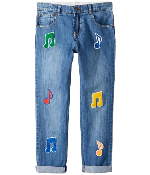 Stella McCartney Kids Lohan Patched Denim Pants (Toddler/Little Kids/Big Kids)