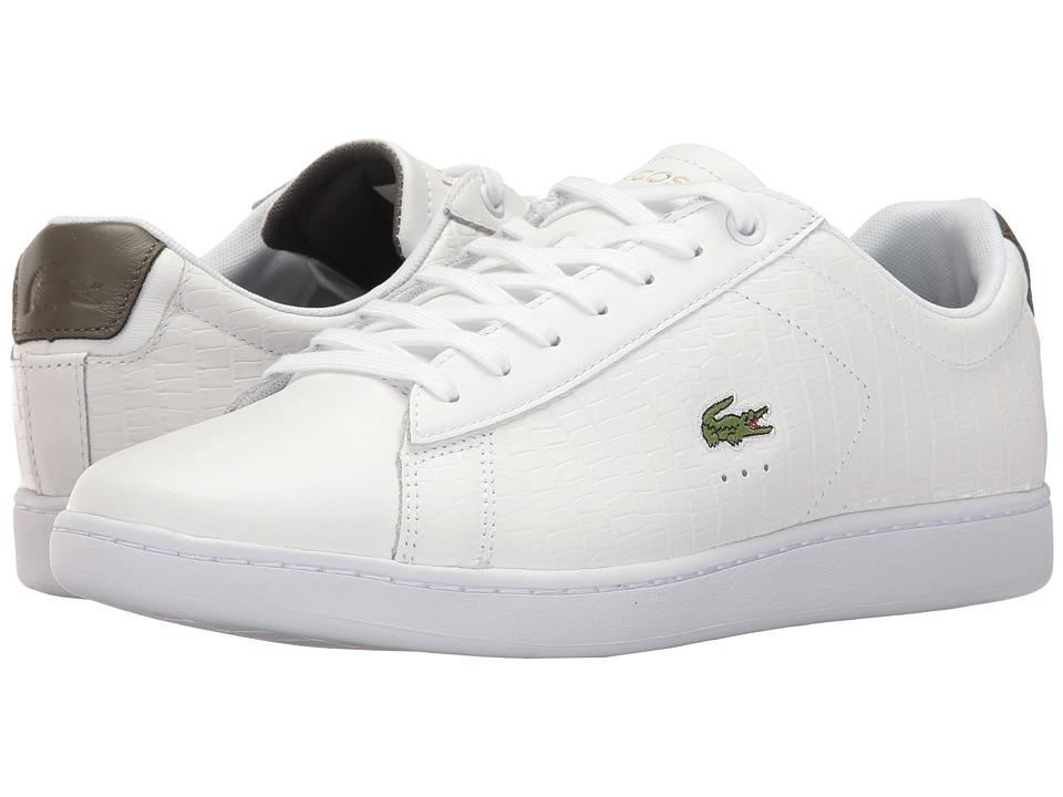 Lacoste Carnaby EVO G117 4 (White/Khaki) Men