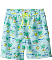 Stella McCartney Kids - Taylor Fluro Beach Print Swim Shorts (Toddler/Little Kids/Big Kids)
