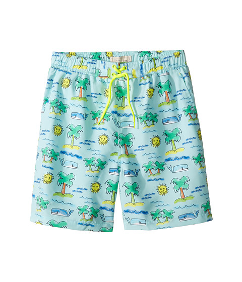 Stella McCartney Kids Taylor Fluro Beach Print Swim Shorts (Toddler/Little Kids/Big Kids)