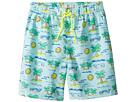 Stella McCartney Kids - Taylor Fluro Beach Print Swim Shorts (Toddler/Little Kids/Big Kids)