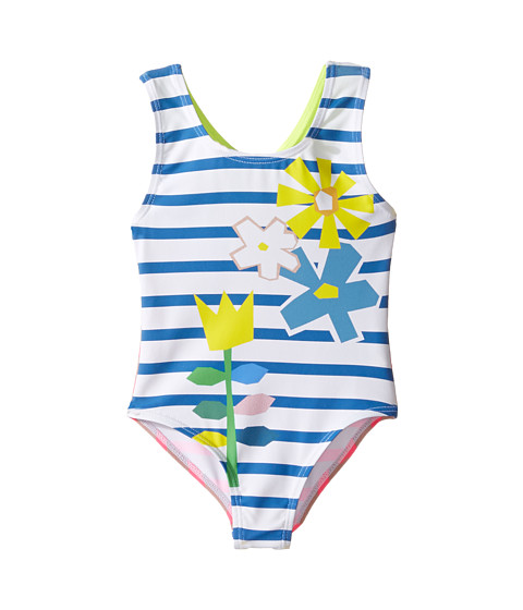 Stella McCartney Kids Molly Striped Floral One-Piece Swimsuit (Toddler/Little Kids/Big Kids)