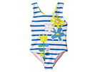 Stella McCartney Kids - Molly Striped Floral One-Piece Swimsuit (Toddler/Little Kids/Big Kids)