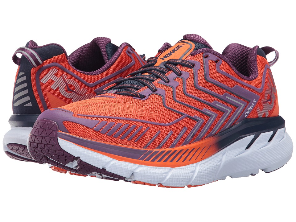 Hoka One One Clifton 4 (Red Orange/Peacoat) Women