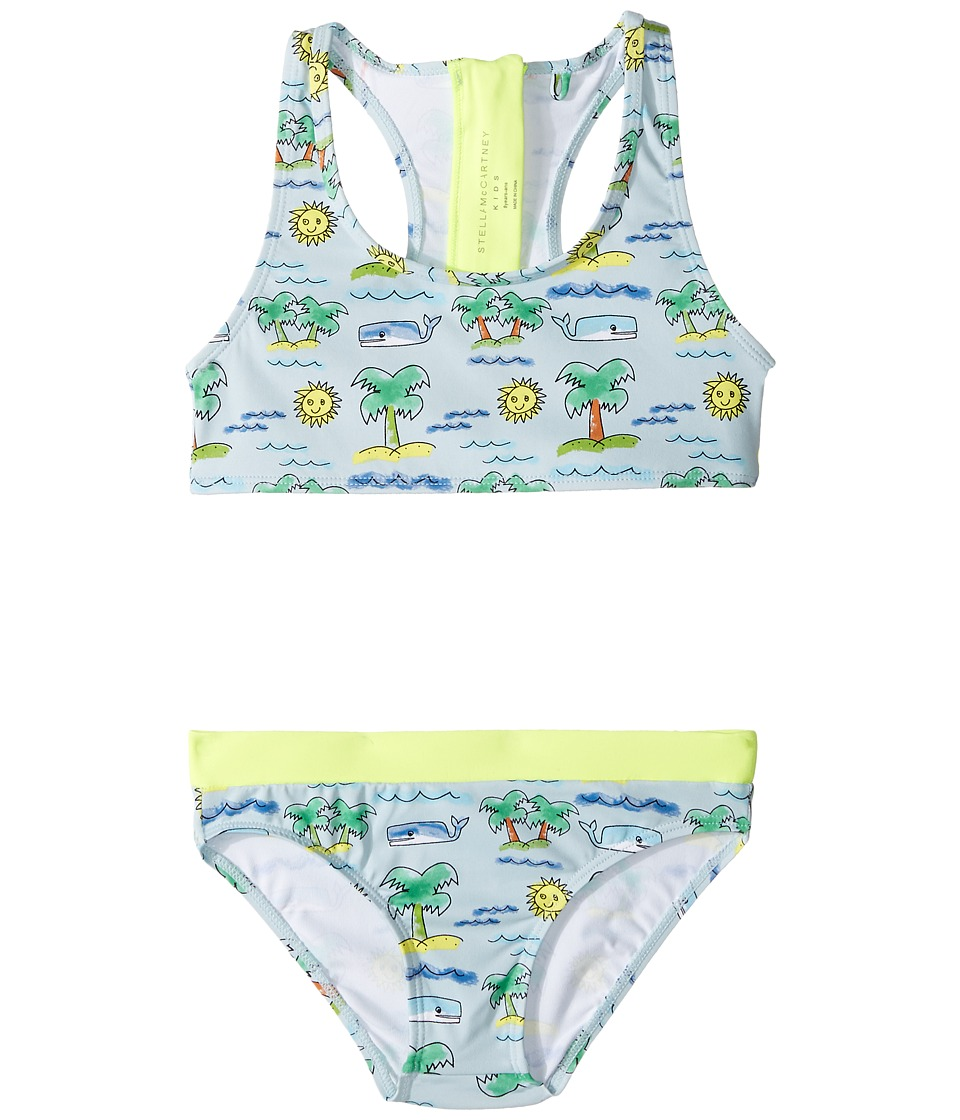 Stella McCartney Kids - Koko Fluro Beach Print Two-Piece Swimsuit