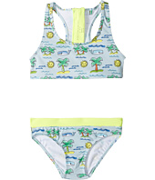 Stella McCartney Kids - Koko Fluro Beach Print Two-Piece Swimsuit (Toddler/Little Kids/Big Kids)