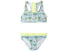 Stella McCartney Kids - Koko Fluro Beach Print Two-Piece Swimsuit (Toddler/Little Kids/Big Kids)