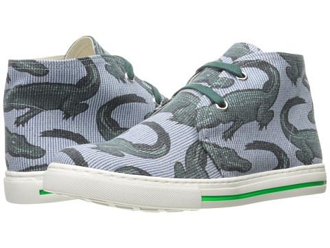 Stella McCartney Kids Alonzo High Top Alligator Print Sneakers (Little Kid/Big Kid) - Blue Stripe