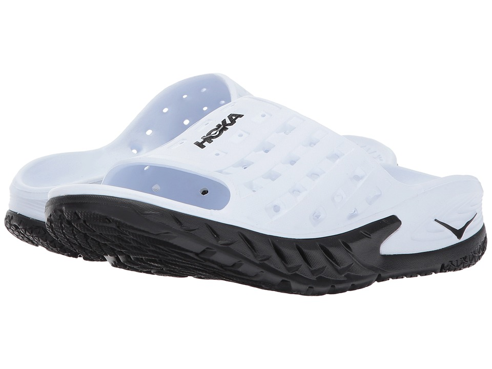 Hoka One One Ora Recovery Slide (Black/White) Women