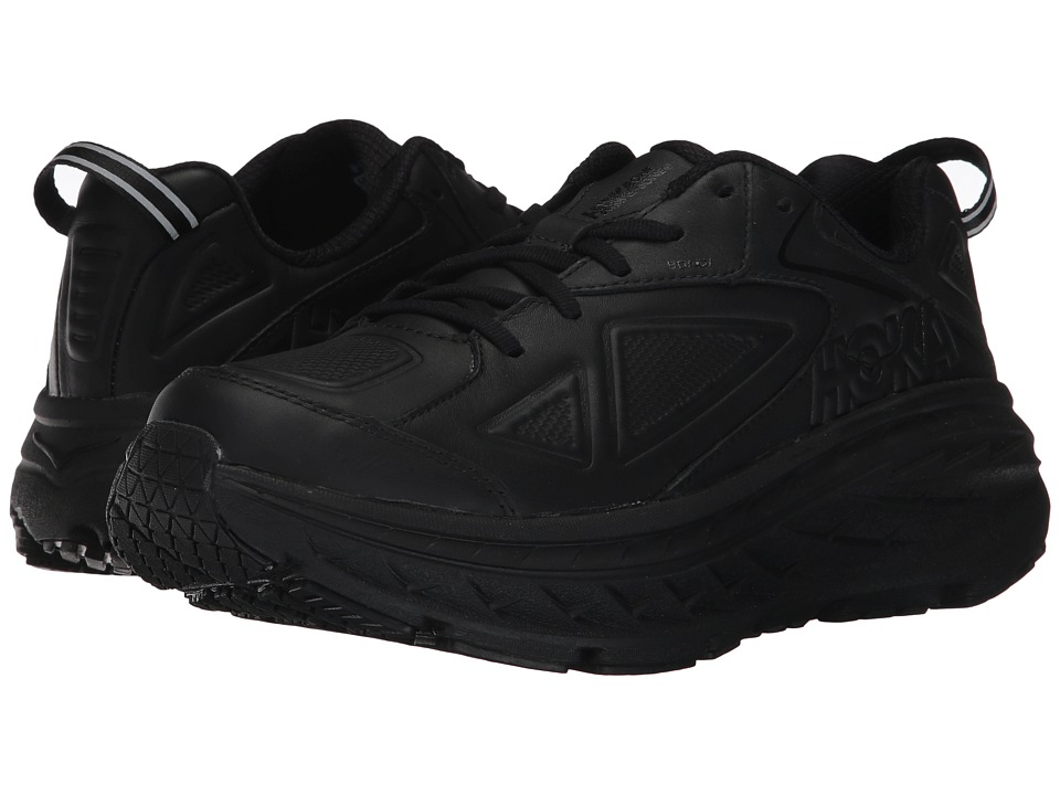 Hoka One One Bondi Leather (Black) Women's Running Shoes