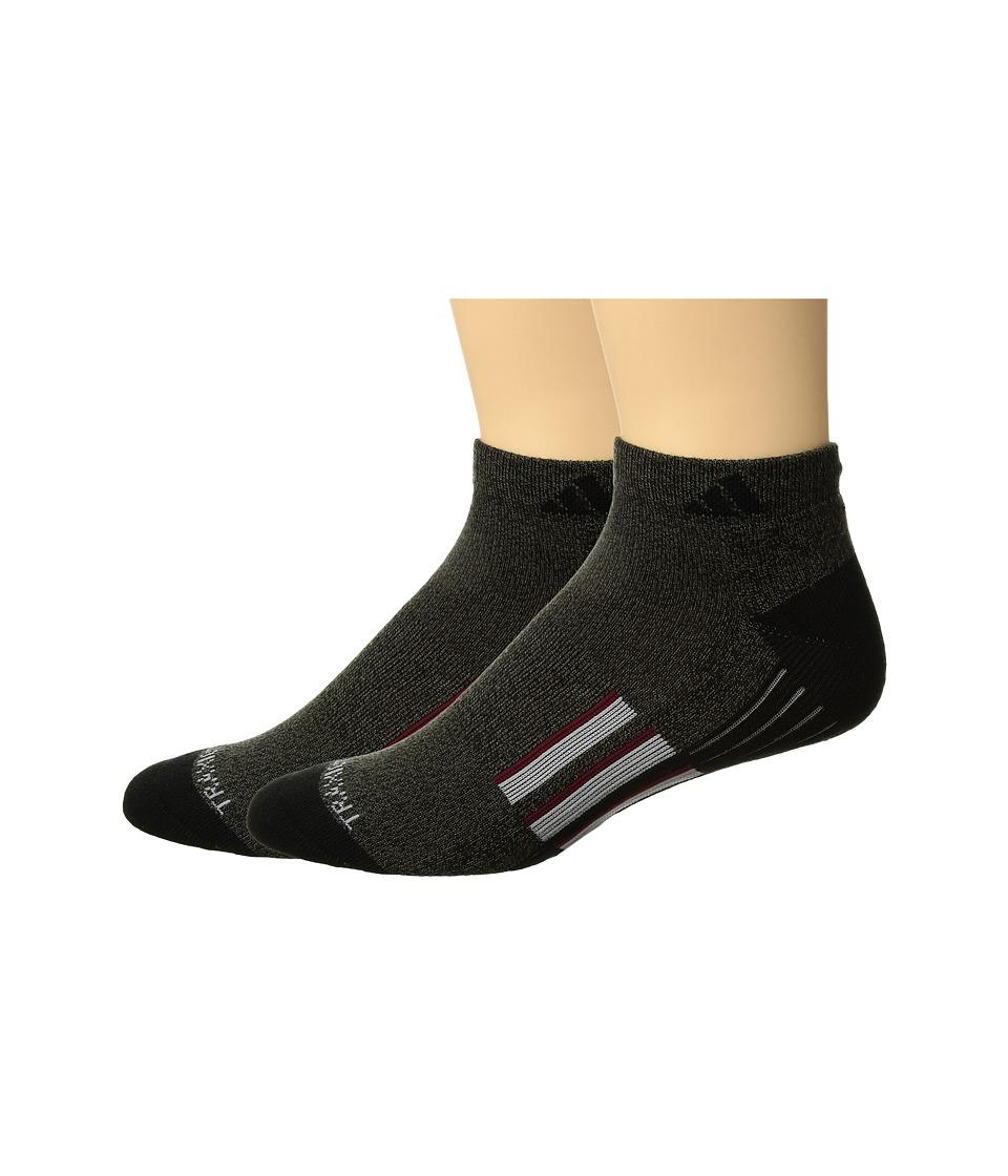adidas - Climalite X II 2-Pack Low Cut (Black/Graphite Marl/Black/Light Onix/Collegiate Burgundy) Men's Low Cut Socks Shoes