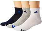 adidas Cushioned Color 3-Pack Quarter Socks
