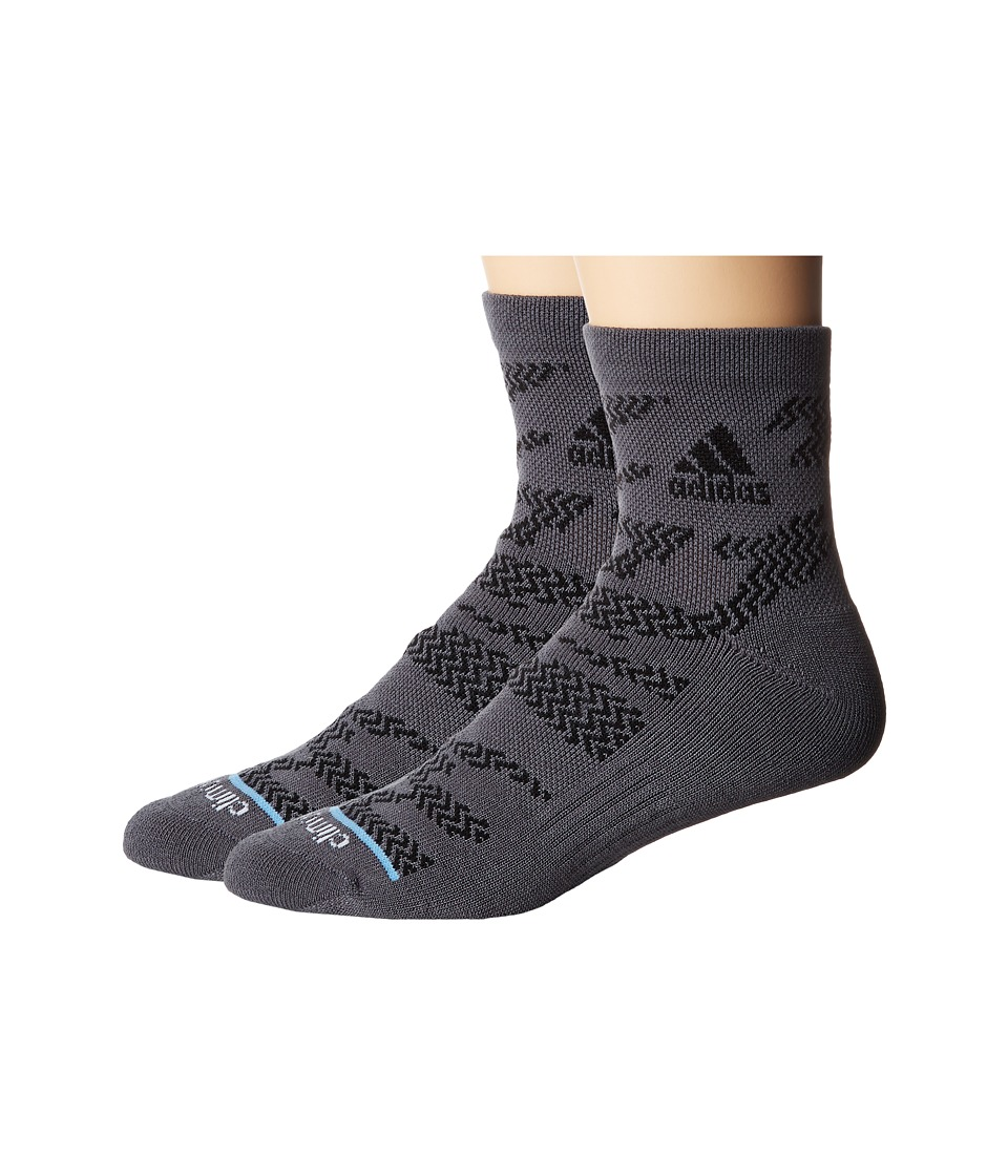 adidas - Tiger Style High 2-Pack Quarter Socks