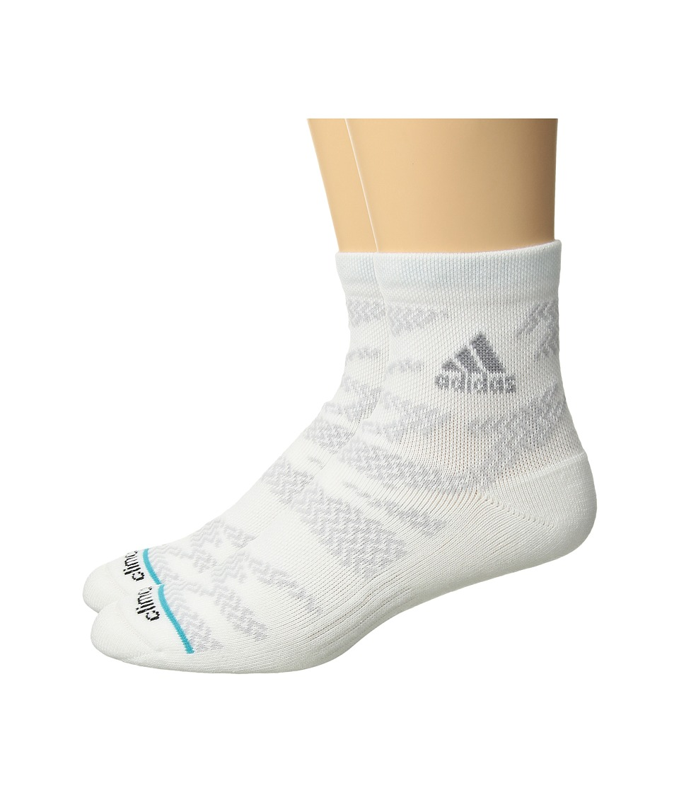 adidas - Tiger Style High 2-Pack Quarter Socks