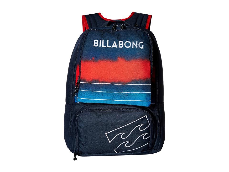 Billabong Juggernaught Pack (Navy/Red) Backpack Bags