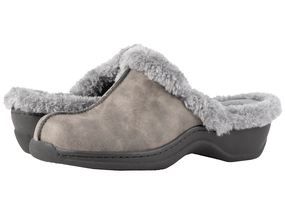 SoftWalk Abigail (Dark Grey Soft Nubuck PU/Faux Fur) Women
