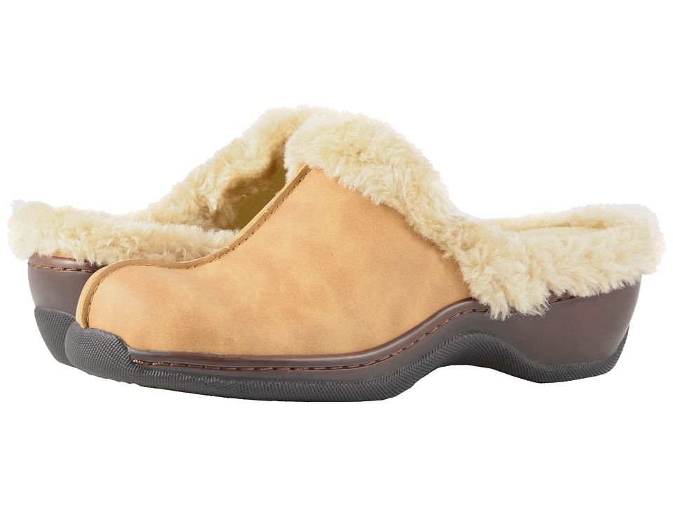 SoftWalk Abigail (Chestnut/Natural Soft Nubuck PU/Faux Fur) Women