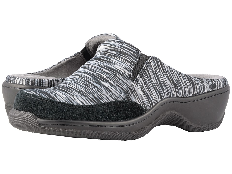 SoftWalk Alcon (Black/Grey Multi/Black Air Mesh Multi/Suede) Slip-On Shoes