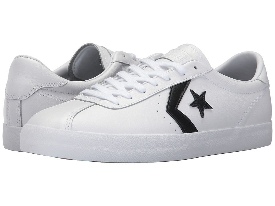 Converse Breakpoint Leather Ox (White/Black/White) Men
