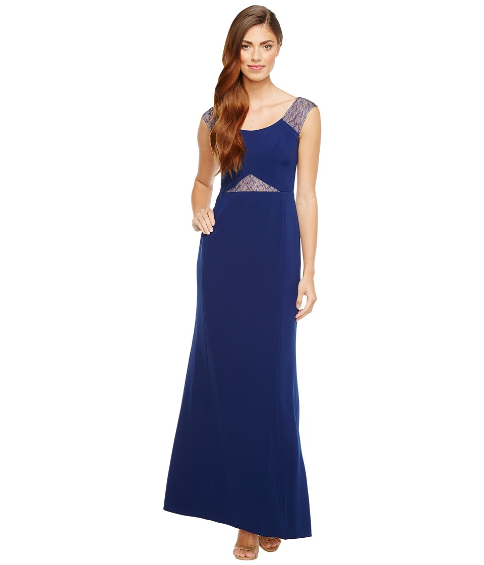 Aidan Mattox - Crepe and Lace Gown