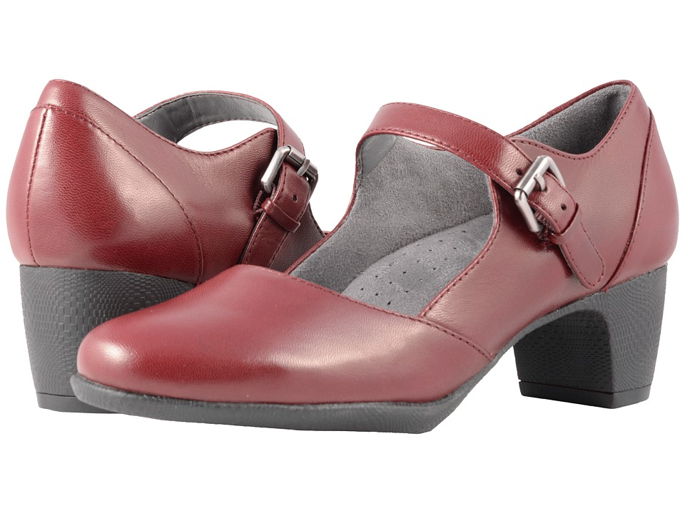SoftWalk Irish II (Dark Red Professional Leather) Women's Hook and Loop Shoes