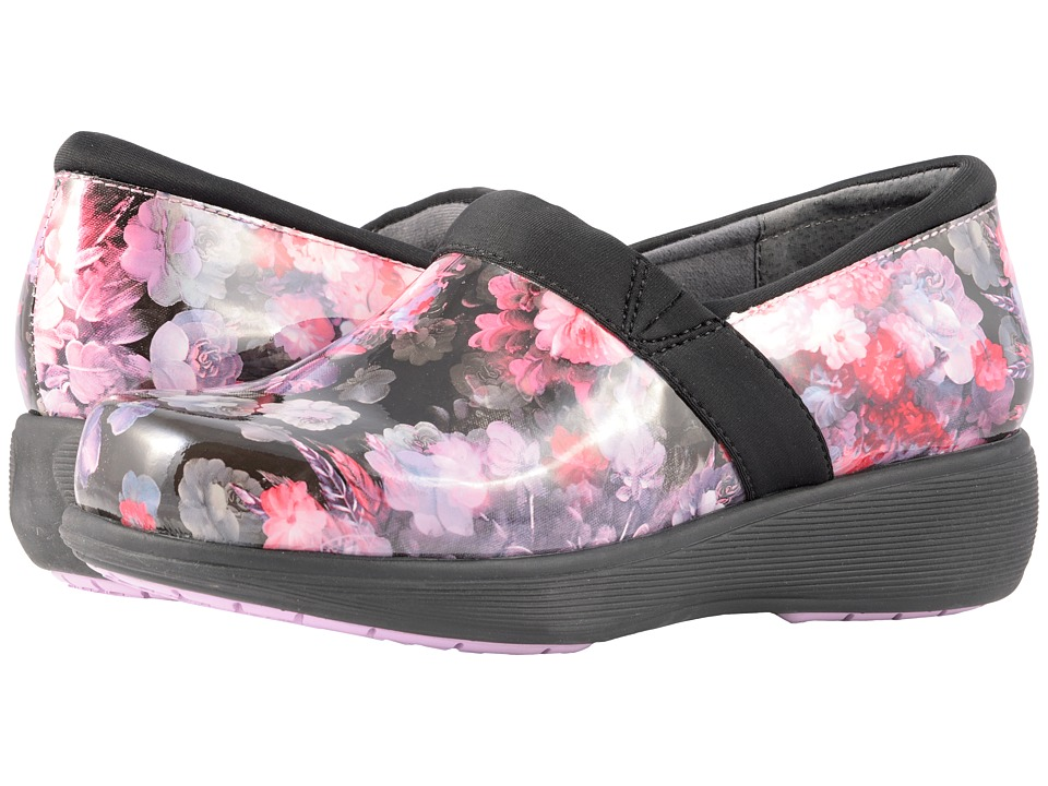 SoftWalk Grey's Anatomy Meredith Sport (Purple/Pink Floral Patent) Slip-On Shoes