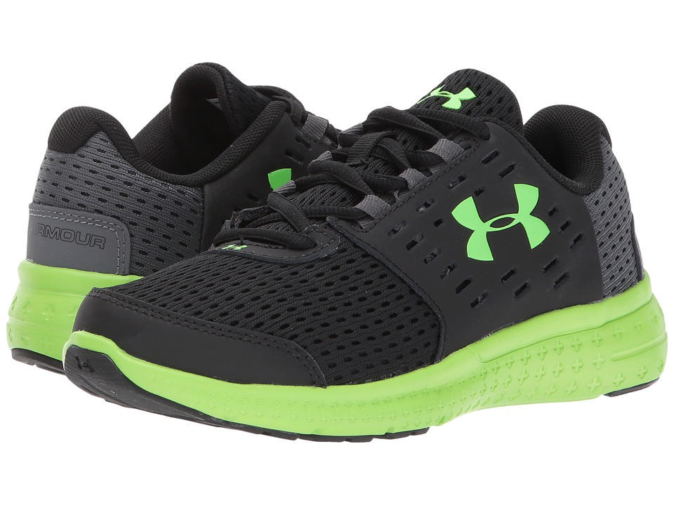 Under Armour Kids UA BPS Micro G Motion (Little Kid) (Black/Gray/Green) Boys Shoes
