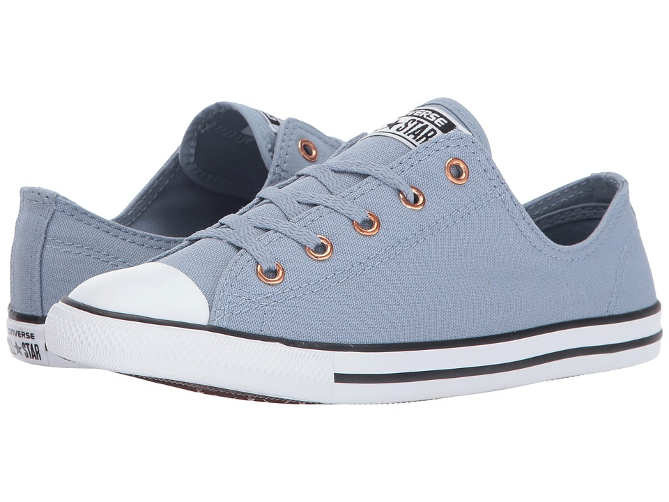 Converse Chuck Taylor All Star Dainty Ox (Blue Slate/White/Gold) Women