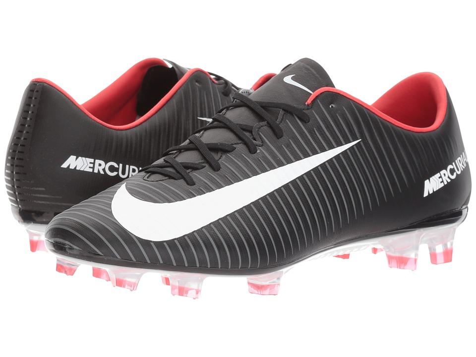 Nike Mercurial Veloce III FG (Black/White/Dark Grey/University Red) Men