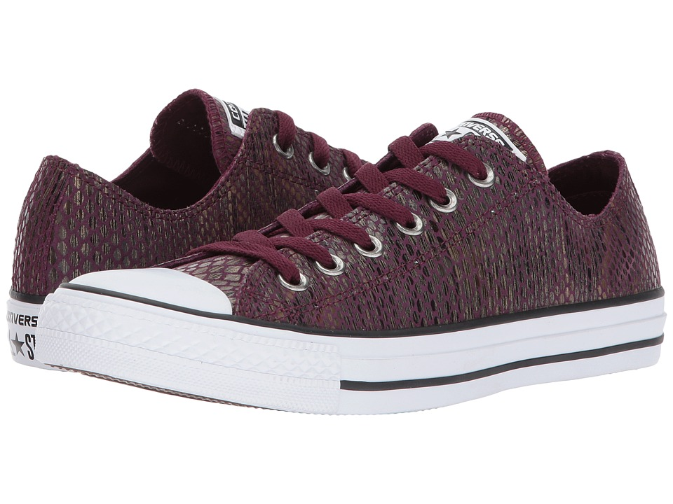 Converse Chuck Taylor All Star Ox Fashion Snake (Dark Sangria/Black/White) Women