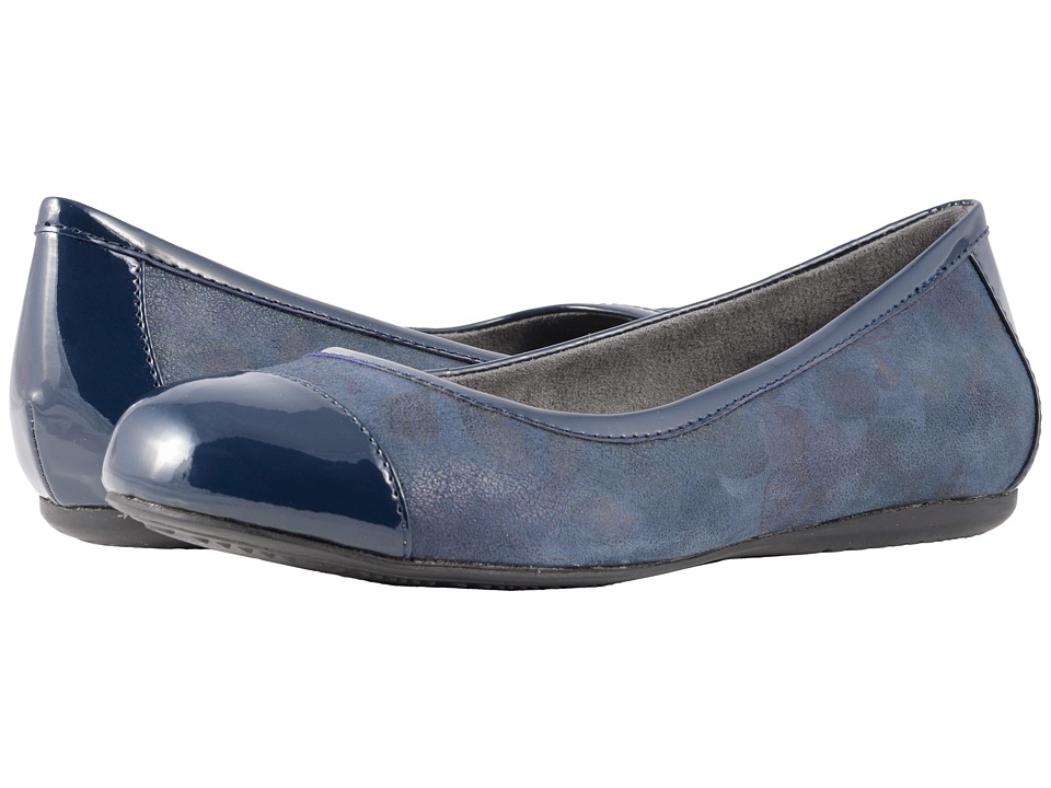 SoftWalk Napa (Navy Romantic Floral) Flats
