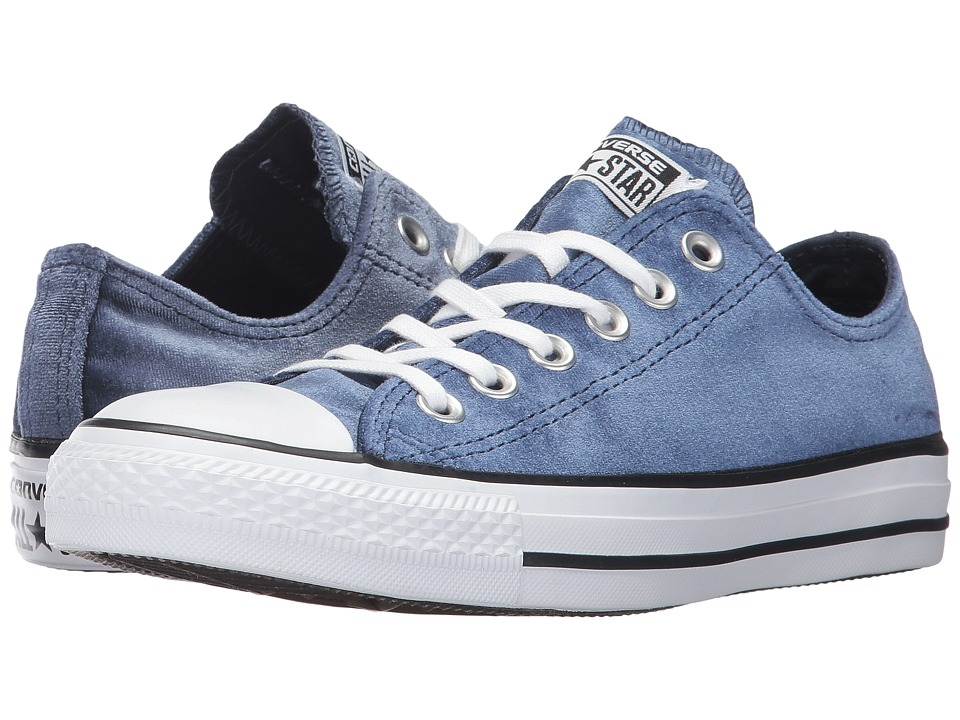 Converse Chuck Taylor All Star Ox Velvet (Midnight Navy/White/White) Women
