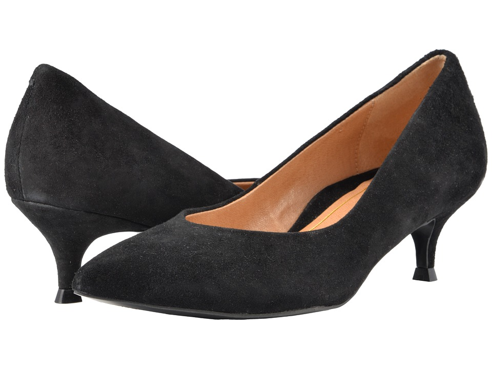 1950s Style Shoes VIONIC Josie Black Suede Womens 1-2 inch heel Shoes $139.95 AT vintagedancer.com