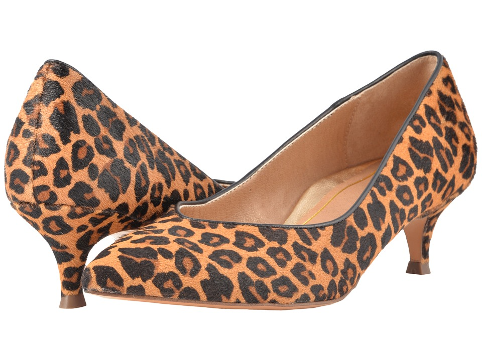 Vionic Josie (Tan Leopard) Women's 1-2 inch heel Shoes