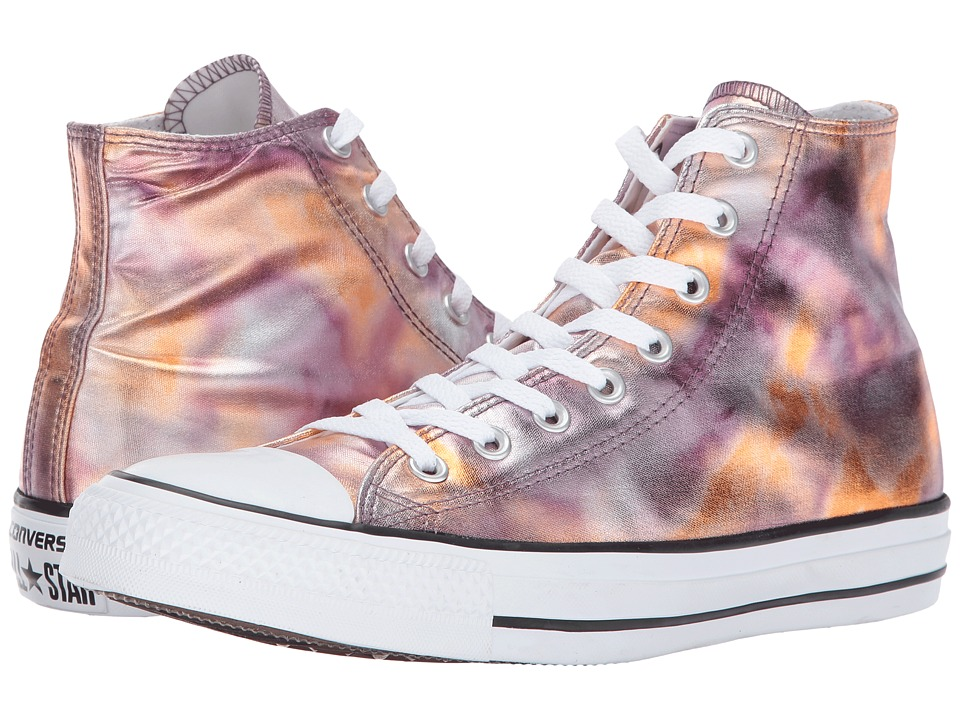 Converse Chuck Taylor All Star Washed Metallic Canvas Hi (Dust Pink/Black/White) Lace up casual Shoes