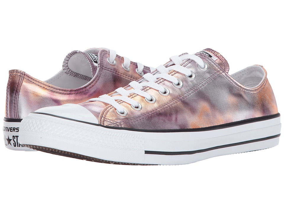 Converse Chuck Taylor All Star Washed Metallic Canvas Ox (Dust Pink/Black/White) Lace up casual Shoes