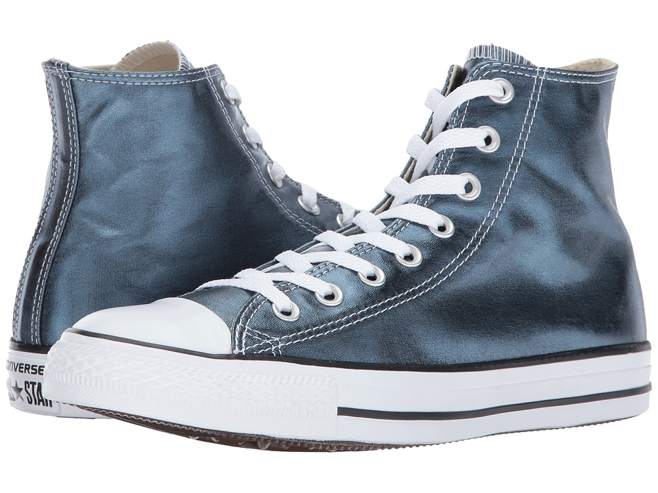 Converse Chuck Taylor All Star Hi Metallic Canvas (Blue Fir/White/Black) Women