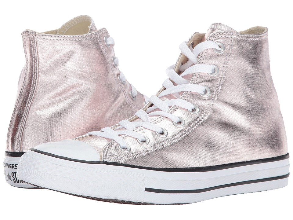 Converse Chuck Taylor All Star Hi Metallic Canvas (Rose Quartz/White/Black) Women