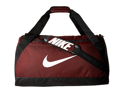 Nike Brasilia Medium Duffel Bag - Dark Team Red/Black/White