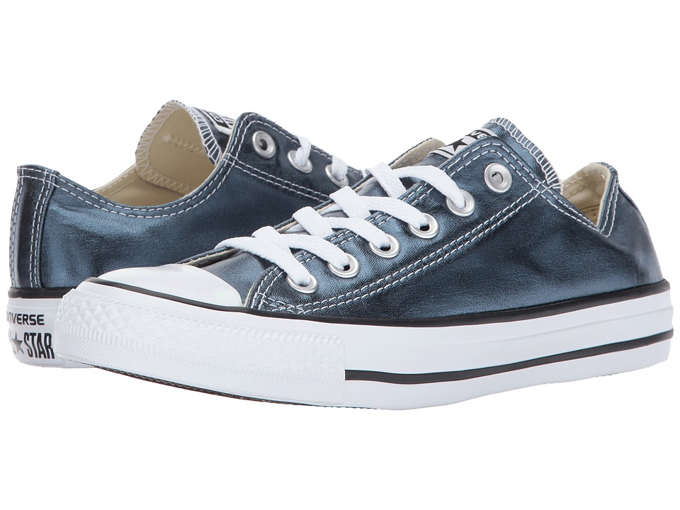 Converse Chuck Taylor All Star Metallic Canvas Ox (Blue Fir/White/Black) Lace up casual Shoes