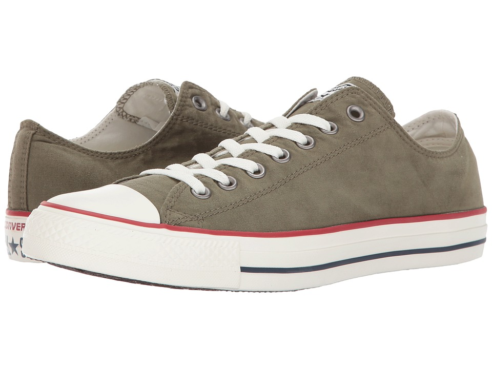 Converse Chuck Taylor All Star Ombre Wash Ox (Medium Olive/Garnet/Egret) Lace up casual Shoes
