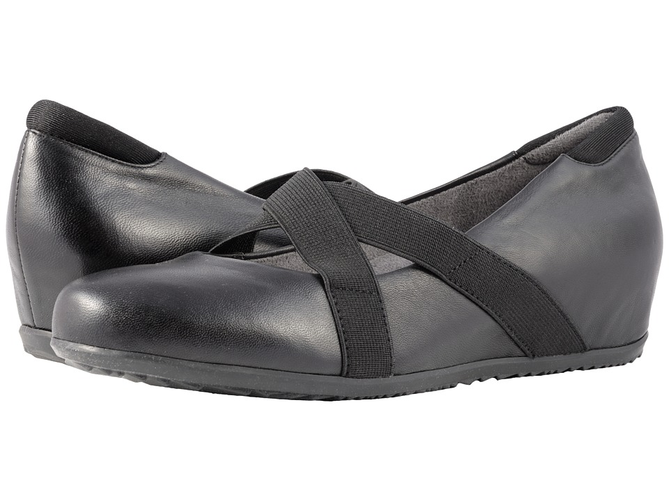 SoftWalk Waverly (Black Soft Leather) Women's Dress Flat Shoes