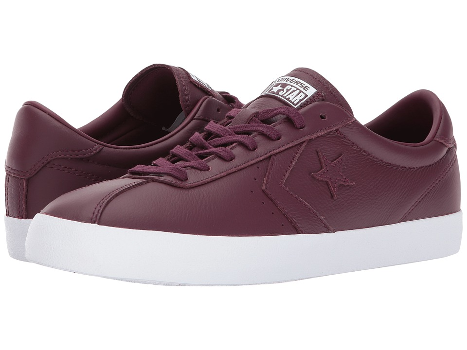 Converse Breakpoint Leather Ox (Dark Sangria/Dark Sangria/White) Lace up casual Shoes