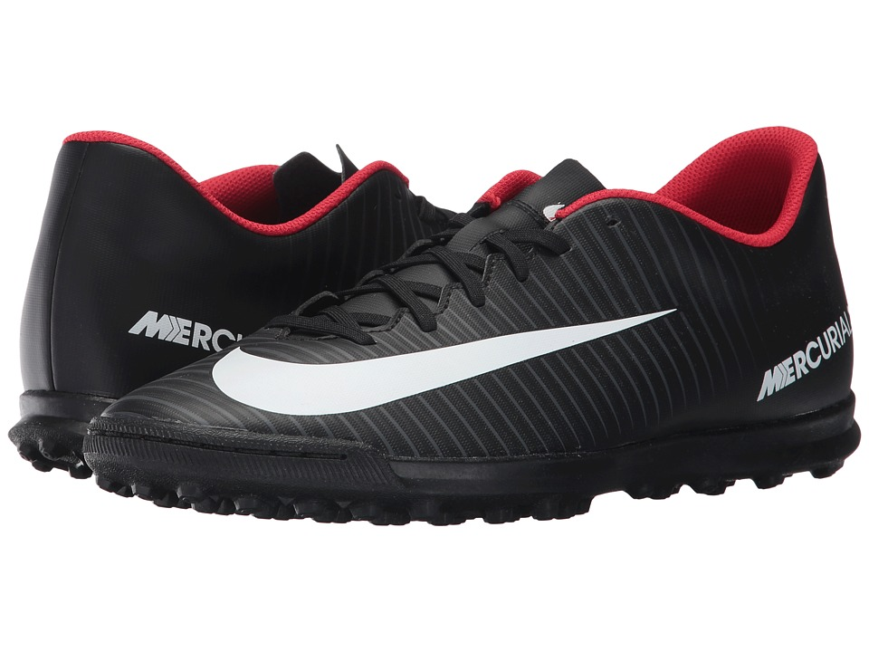 Nike - MercurialX Vortex III TF (Black/White/Dark Grey) Men's Soccer Shoes