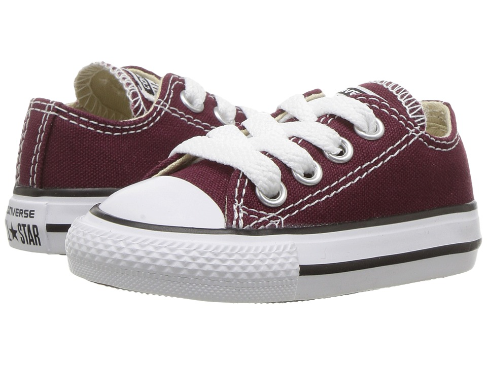 Converse Kids Chuck Taylor All Star Seasonal Ox (Infant/Toddler) (Burgundy) Kid's Shoes