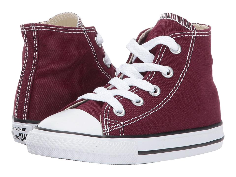 Converse Kids Chuck Taylor All Star Seasonal Hi (Infant/Toddler) (Burgundy) Girl's Shoes