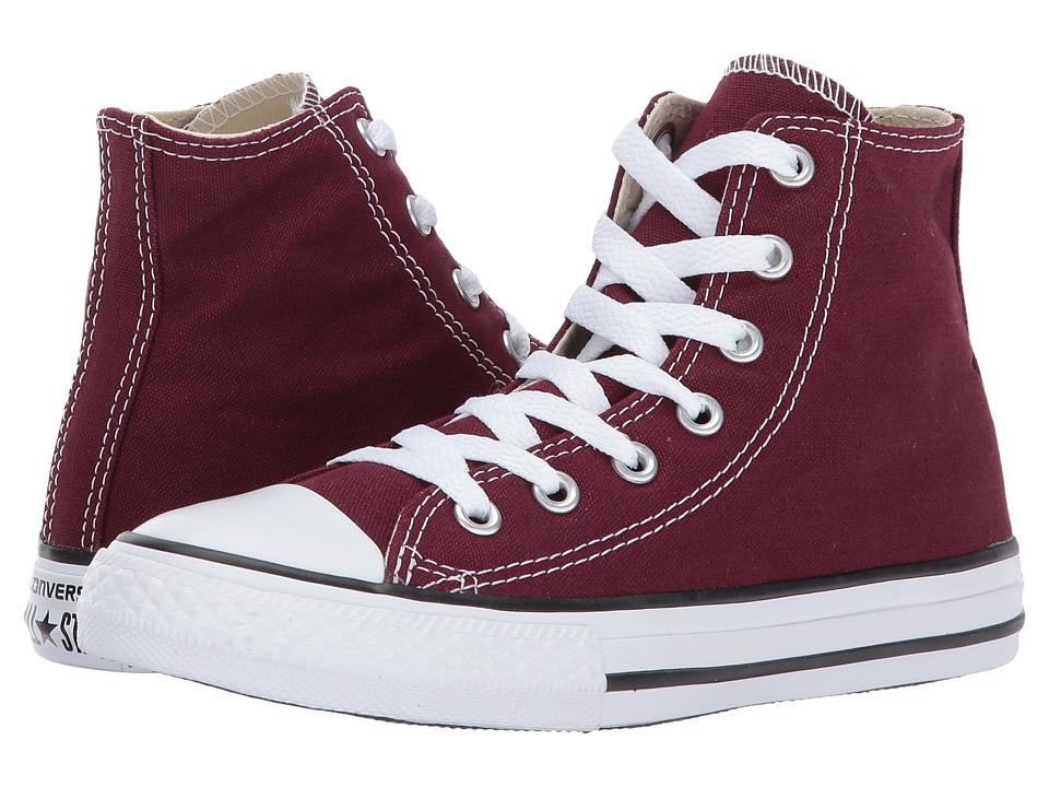 Converse Kids Chuck Taylor All Star Hi (Little Kid) (Burgundy) Kids Shoes
