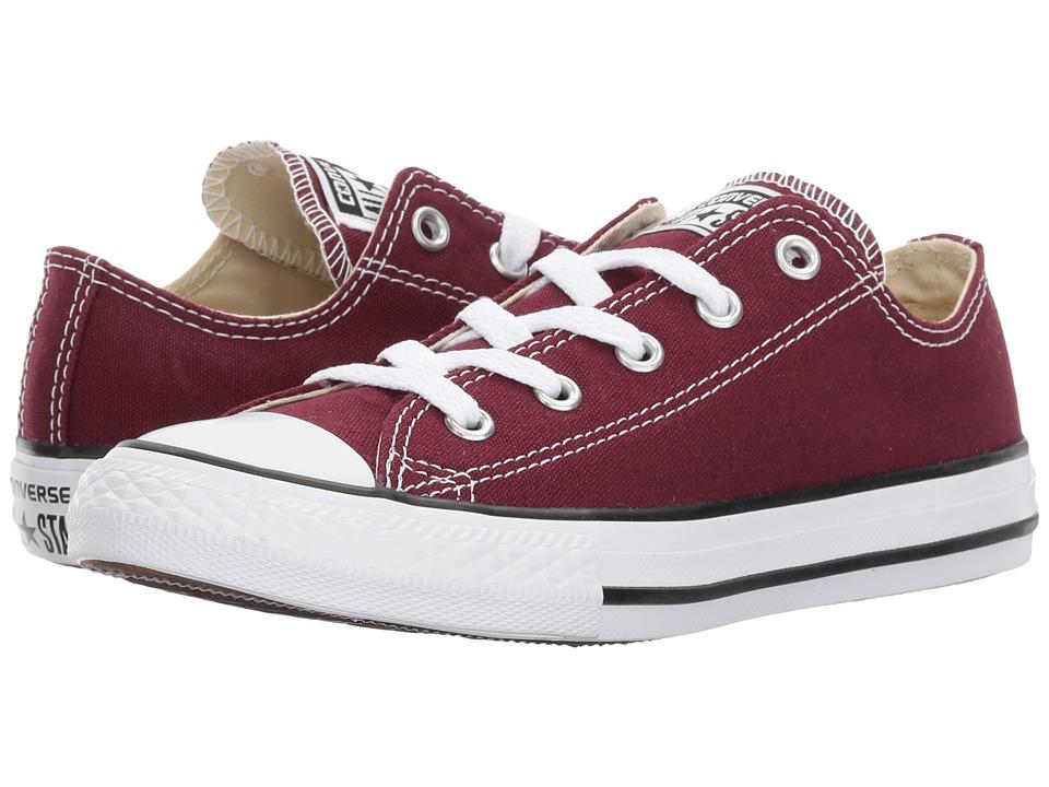 Converse Kids Chuck Taylor All Star Ox (Little Kid) (Burgundy) Kids Shoes