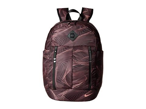 Nike Auralux Backpack - Print - Port Wine/Black/Red Stardust