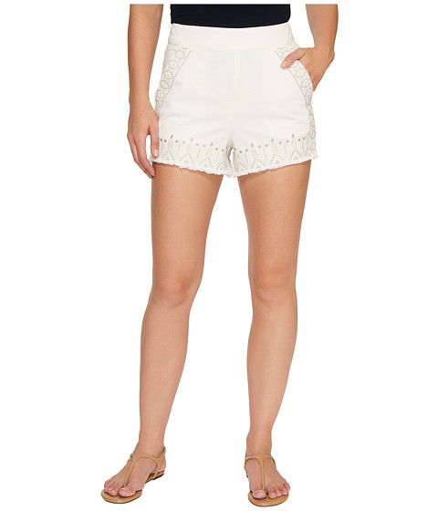 Blank NYC Embroidered Shorts in Snow Flake